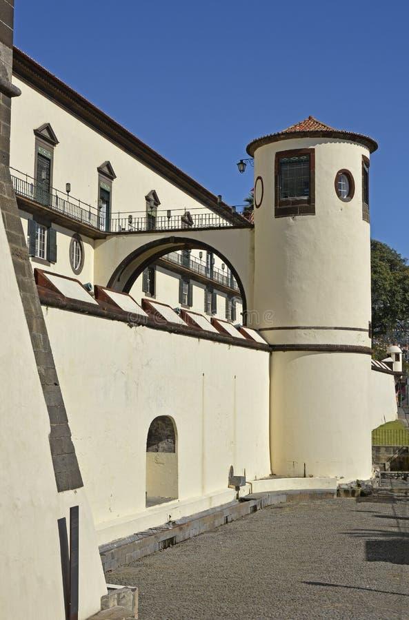 Paleis van Sao Lourenco in Funchal, Madera, Portugal stock afbeelding
