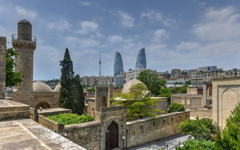 Paleis van Shirvanshahs - Baku, Azerbeidzjan royalty-vrije stock afbeeldingen
