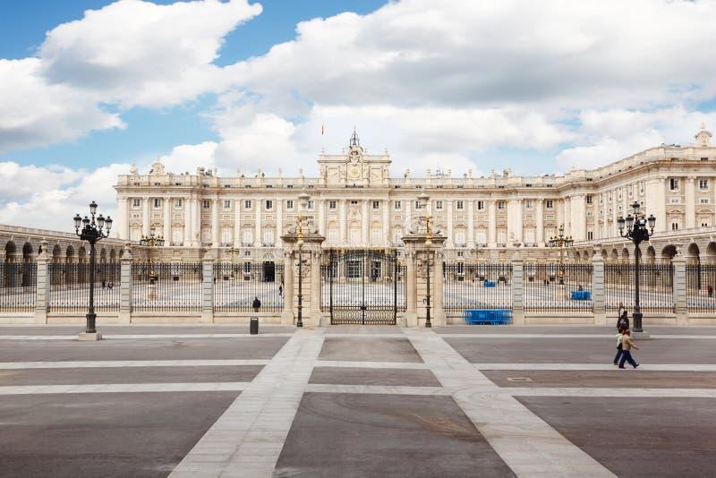 Paleis van Spaanse koningen in Madrid royalty-vrije stock foto