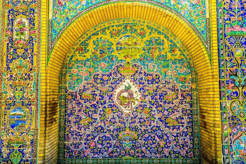 Paleis 26 van Teheran Golestan stock afbeeldingen