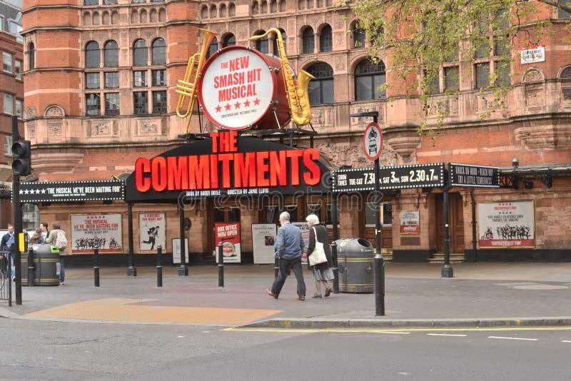 Paleistheater Londen royalty-vrije stock afbeelding
