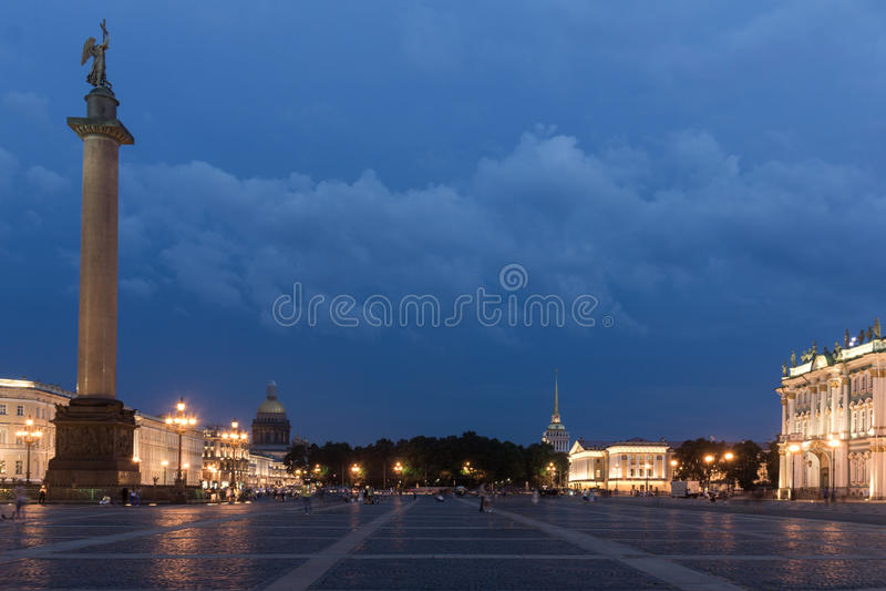 Paleisvierkant, St Petersburg, Rusland stock foto