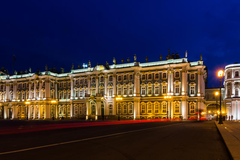 Paleisvierkant, St Petersburg, Rusland royalty-vrije stock foto's