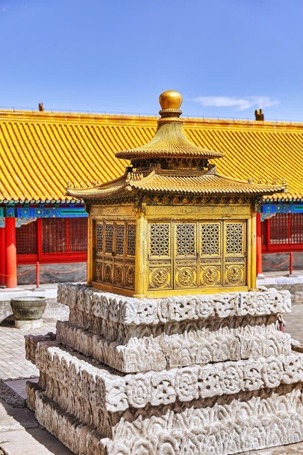 Paleizen, pagoden binnen het grondgebied van de Verboden Stad stock afbeelding
