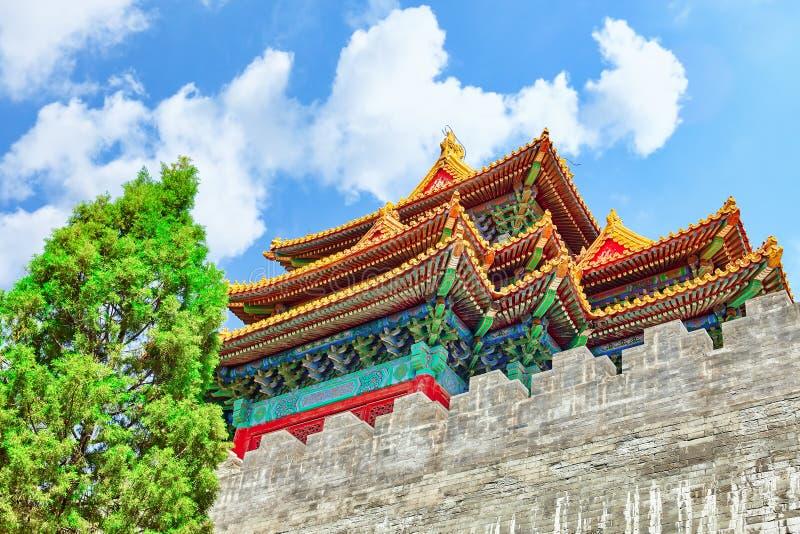 Paleizen, pagoden binnen het grondgebied van de Verboden Stadsmuse stock foto's