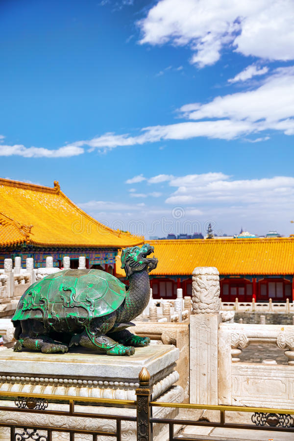 Paleizen, pagoden binnen het grondgebied van de Verboden Stadsmuse royalty-vrije stock afbeeldingen