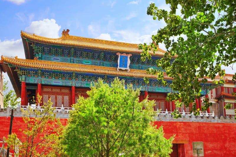 Paleizen, pagoden binnen het grondgebied van de Verboden Stadsmuse stock foto