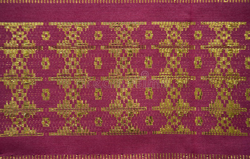 palembang songket arkivfoto