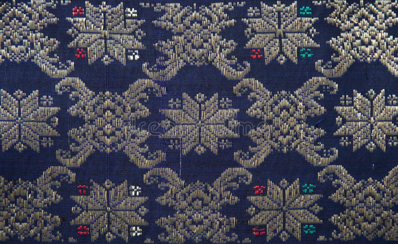 palembang songket royaltyfria bilder
