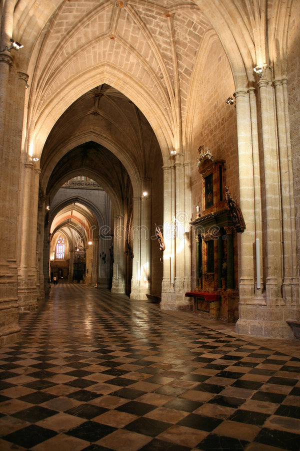 Palencia cathedral interior royalty free stock images