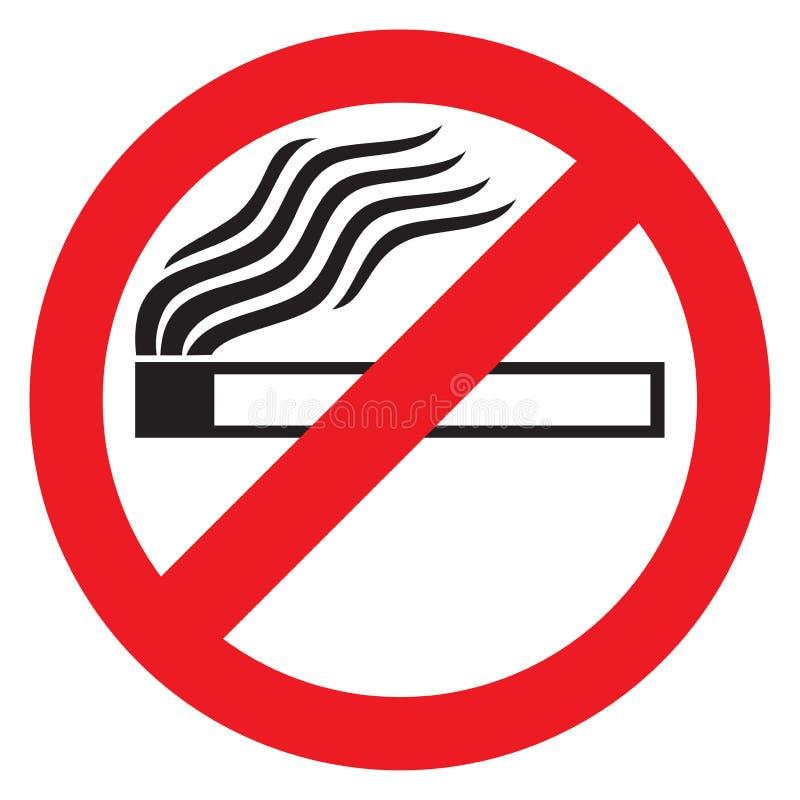 Palenie zabronione ilustracji