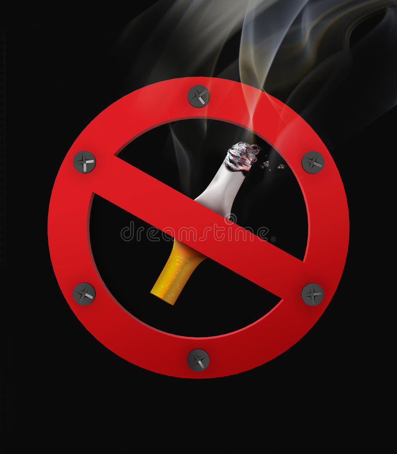 palenie zabronione royalty ilustracja