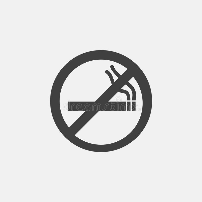 Palenie zabronione ikona royalty ilustracja