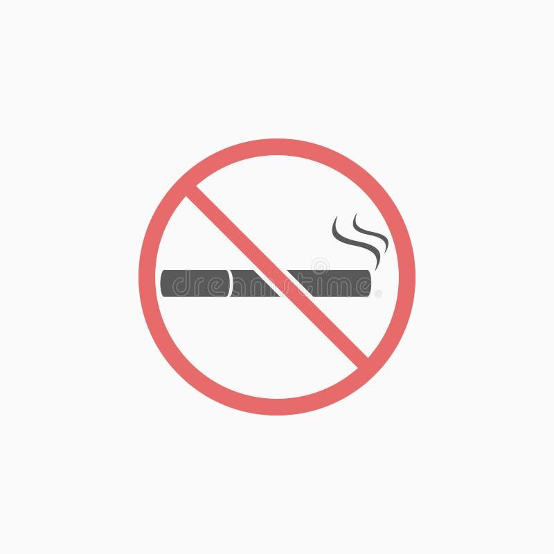 Palenie zabronione ikona, papieros, zakazujący, nikotyna royalty ilustracja