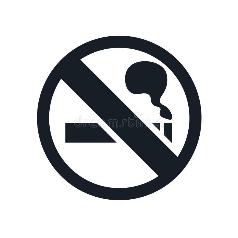 Palenie zabronione ikona wektoru znak i symbol odizolowywający na białym tle, Palenie zabronione loga pojęcie ilustracja wektor