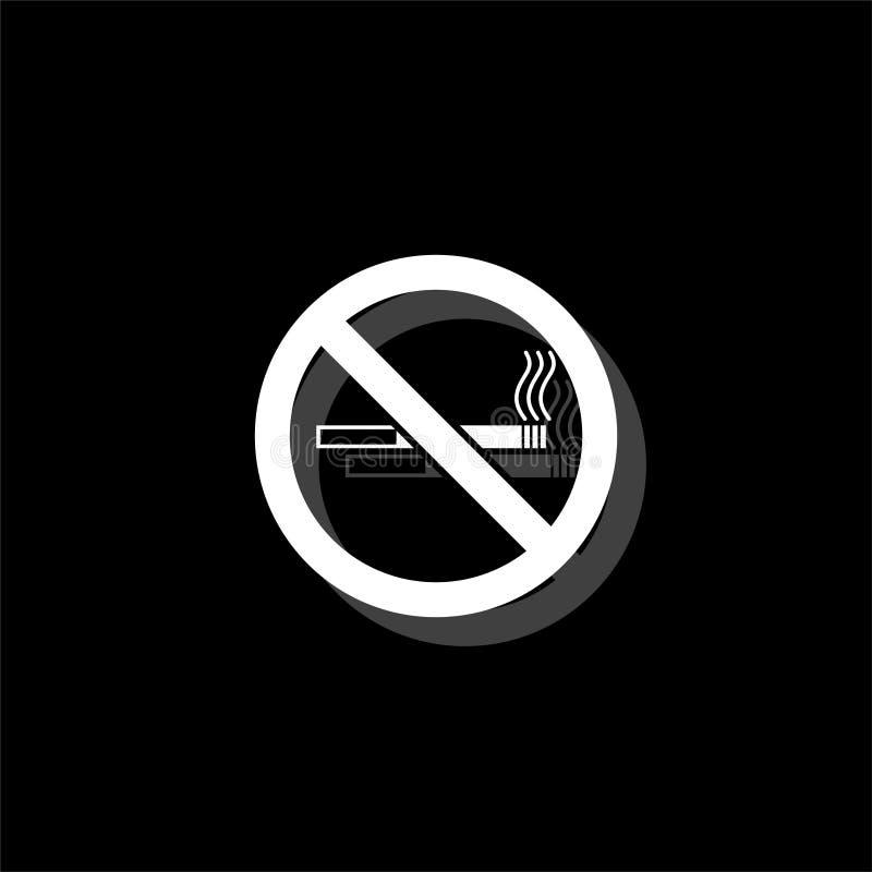 Palenie zabronione ikony mieszkanie ilustracja wektor