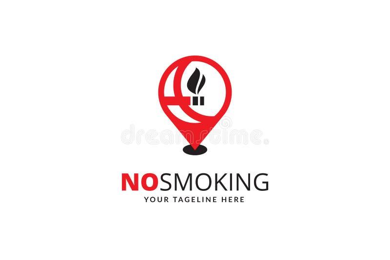 Palenie Zabronione loga projekta szablonu wektor obrazy stock