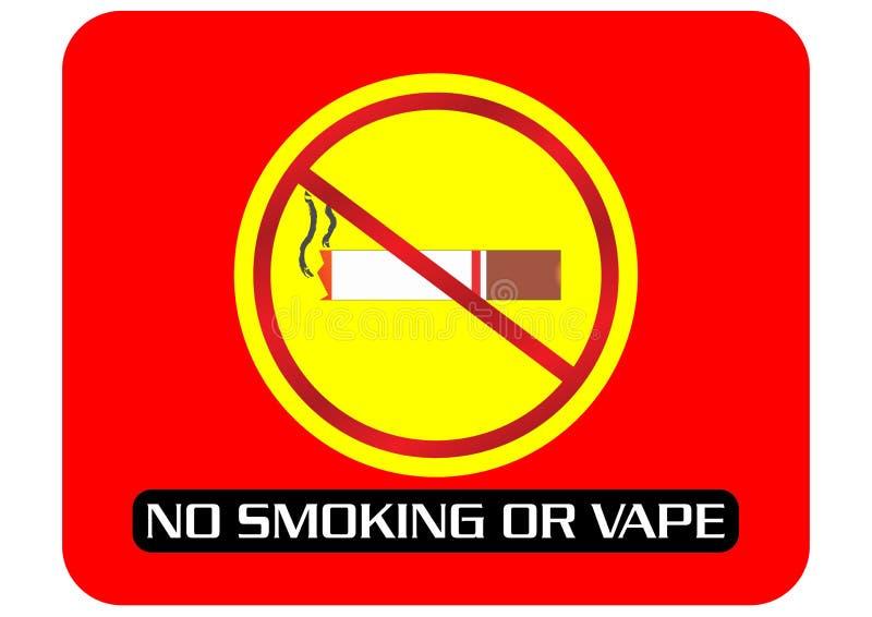Palenie Zabronione lub opary znak zdjęcie royalty free