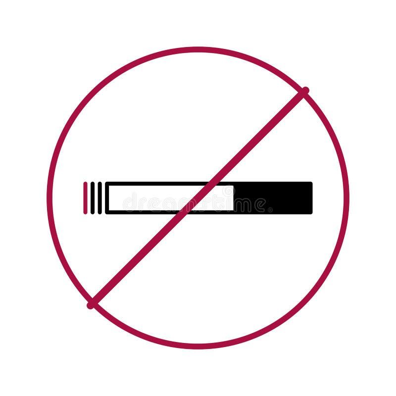Palenie zabronione okrąg royalty ilustracja