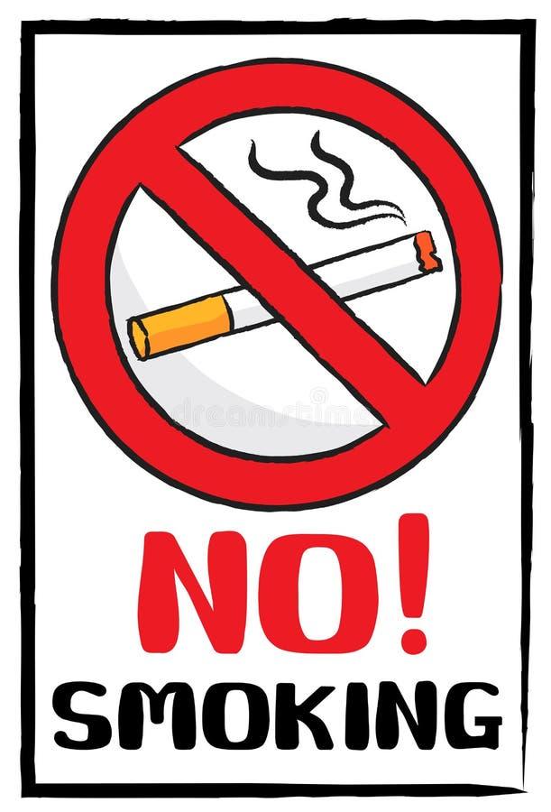 Palenie zabronione podpisuje wewnątrz malować muśnięcie styl obraz stock