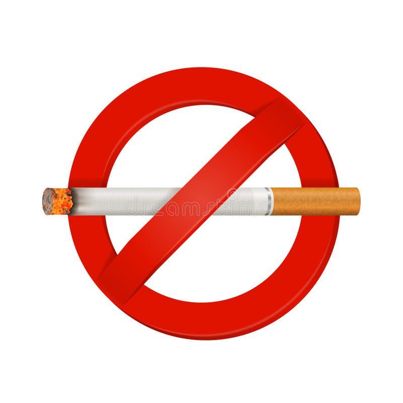 Palenie Zabronione Realistyczny papierosu znak ilustracji