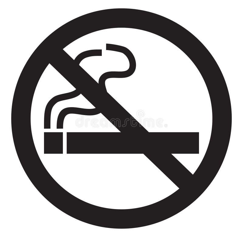 Palenie zabronione symbol ilustracji