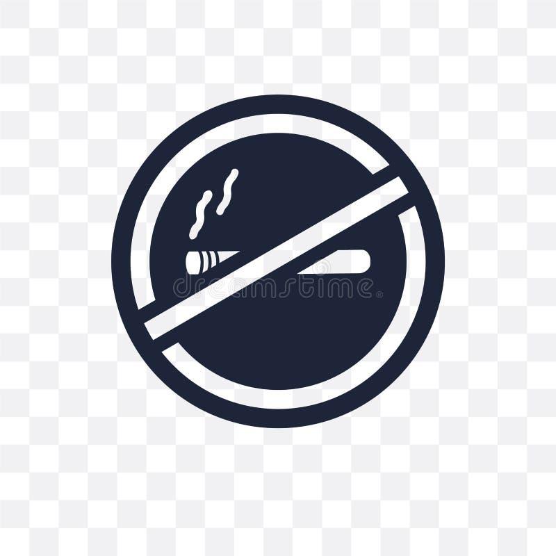 Palenie zabronione szyldowa przejrzysta ikona Palenie zabronione szyldowy symbolu projekt royalty ilustracja