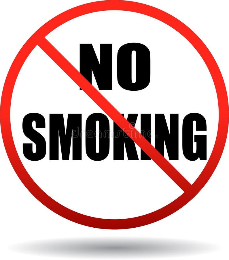 Palenie zabronione teksta znak ilustracji
