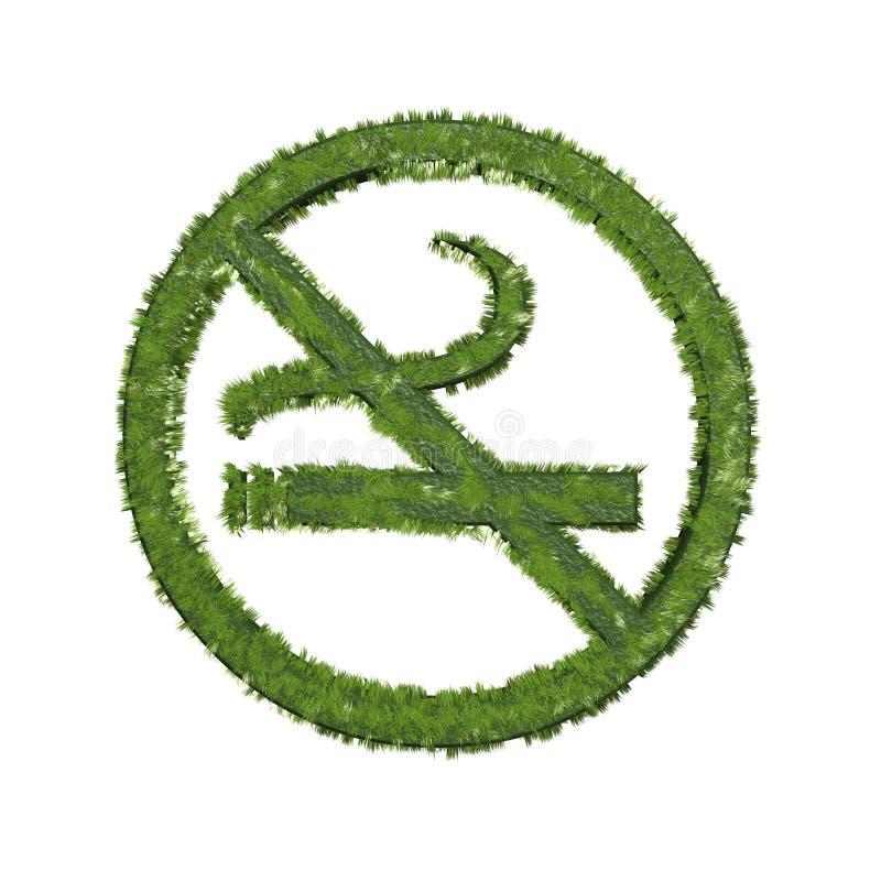 palenie zabronione trawa symbol royalty ilustracja