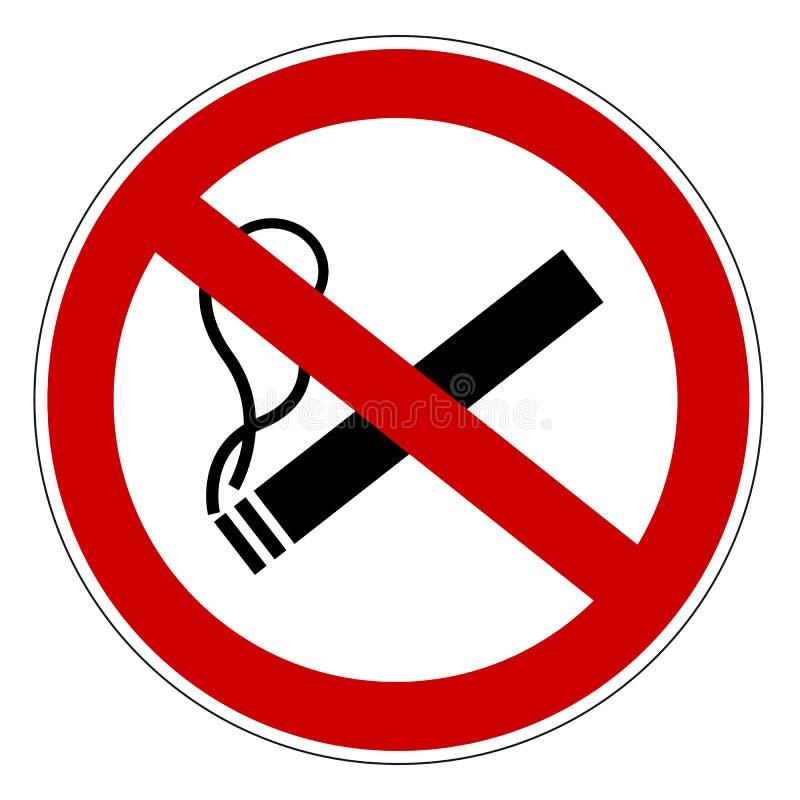 Palenie Zabronione Zabrania znak Dla Apps I stron internetowych ilustracja wektor