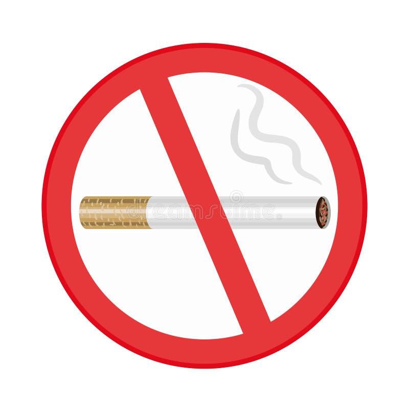 Palenie zabronione znak na białym tle ilustracja wektor
