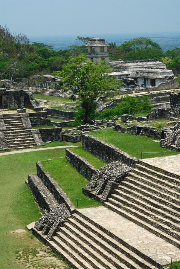 palenque废墟 免版税库存照片