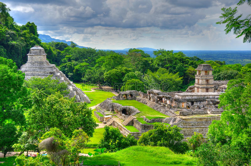 Palenque Ancient Maya Temples, Mexico royalty free stock photo