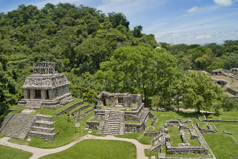 Palenque chiapas. Ruins of palenque chiapas mexico stock photography