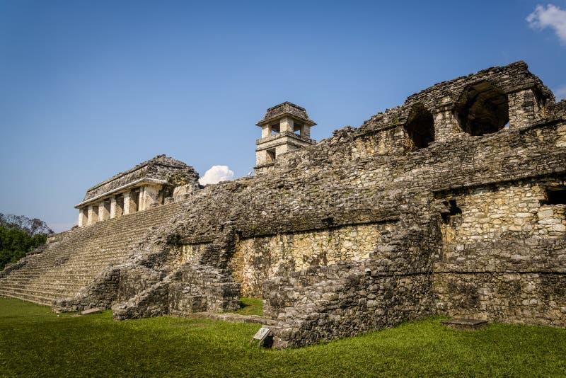 Palenque, città di maya nel Messico del sud, il Chiapas, Messico fotografie stock