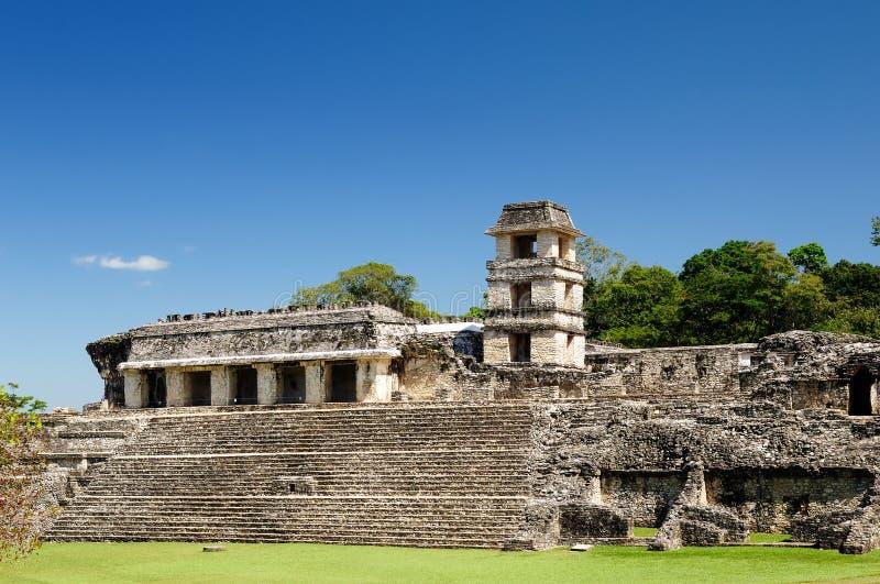 Palenque Maya fördärvar i Mexico royaltyfri bild