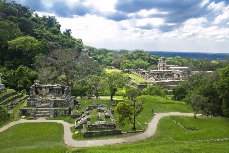 Palenque, Meksyk/- Majskie ruiny zdjęcie stock