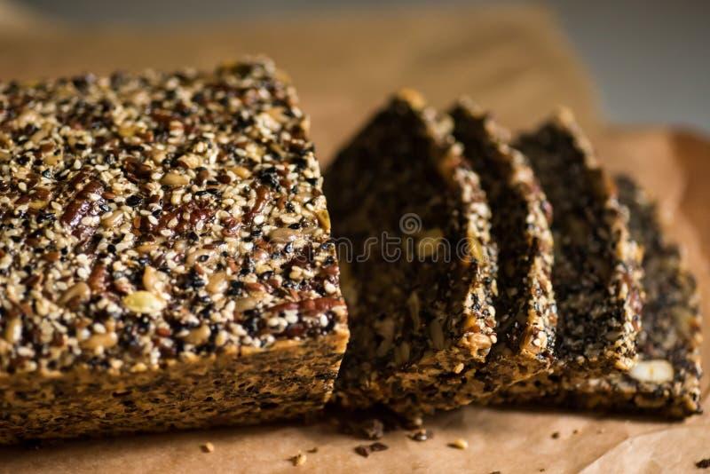 Paleo bröd, gluten frigör arkivfoton