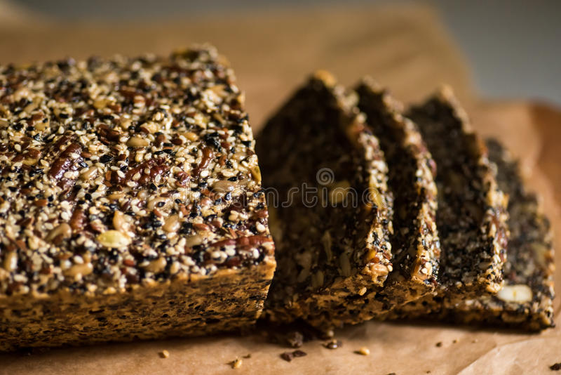 Paleo bread, gluten free stock photos