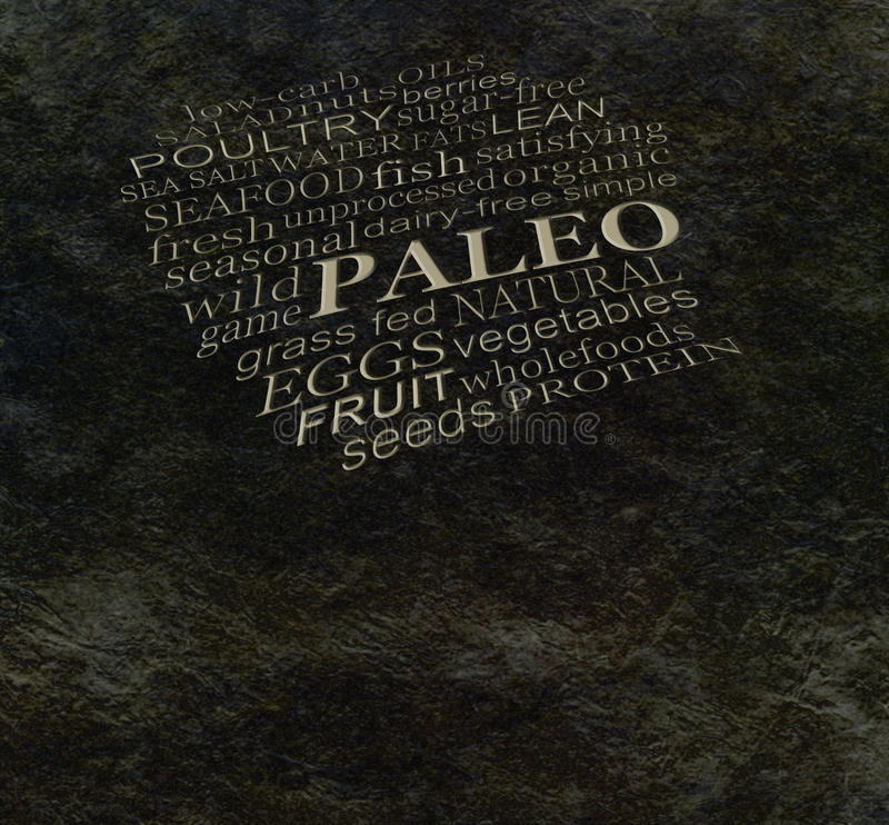 PALEO diet cave wall vector illustration