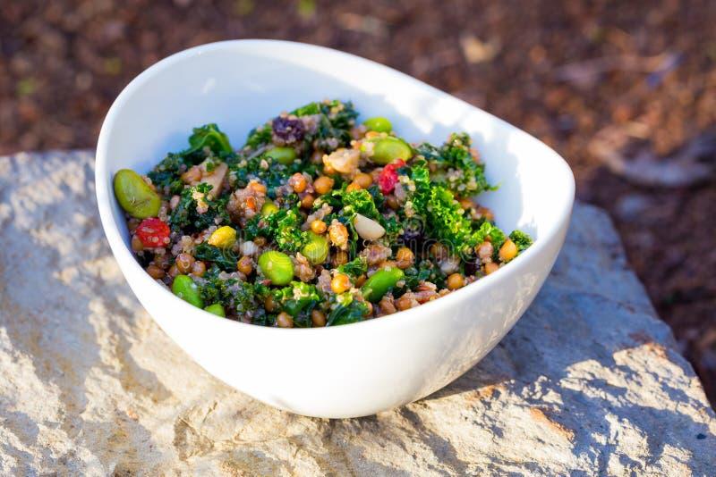 Paleo Diet Quinoa Kale Salad stock photos