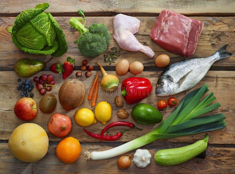 Paleo diety produkty zdjęcie stock