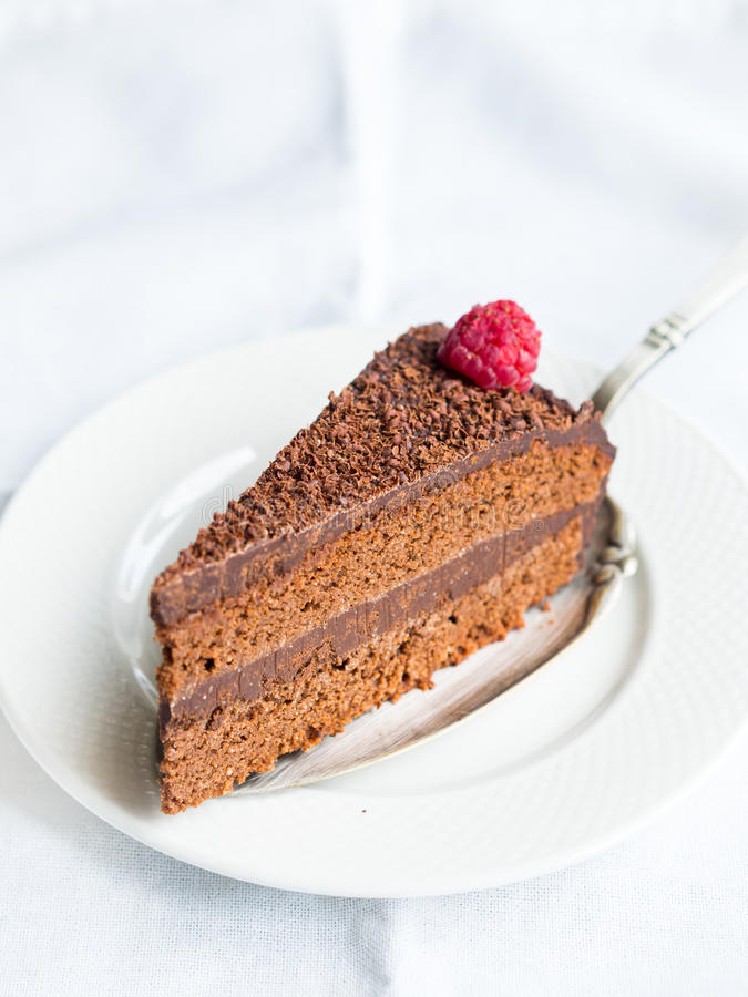 Paleo flourless chocolate cake stock photo