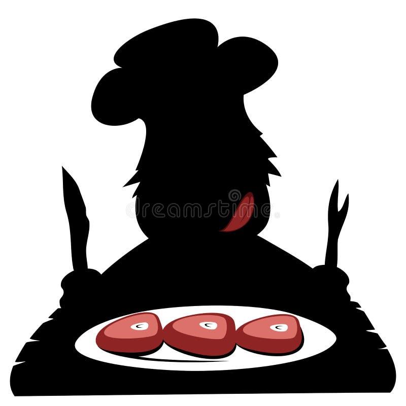 Paleo szef kuchni ilustracji