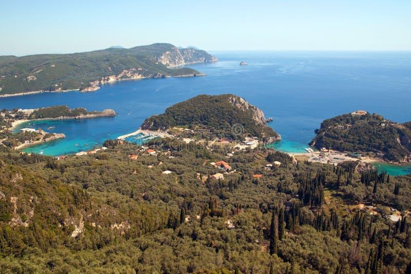 Paleokastrica, Corfu, Greece foto de stock royalty free