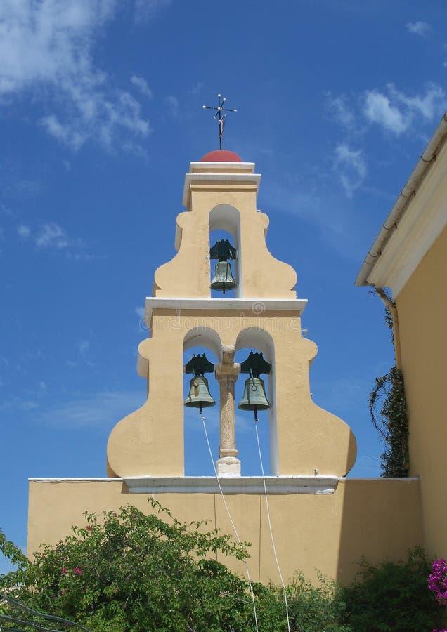Paleokastritsa kloster fotografering för bildbyråer