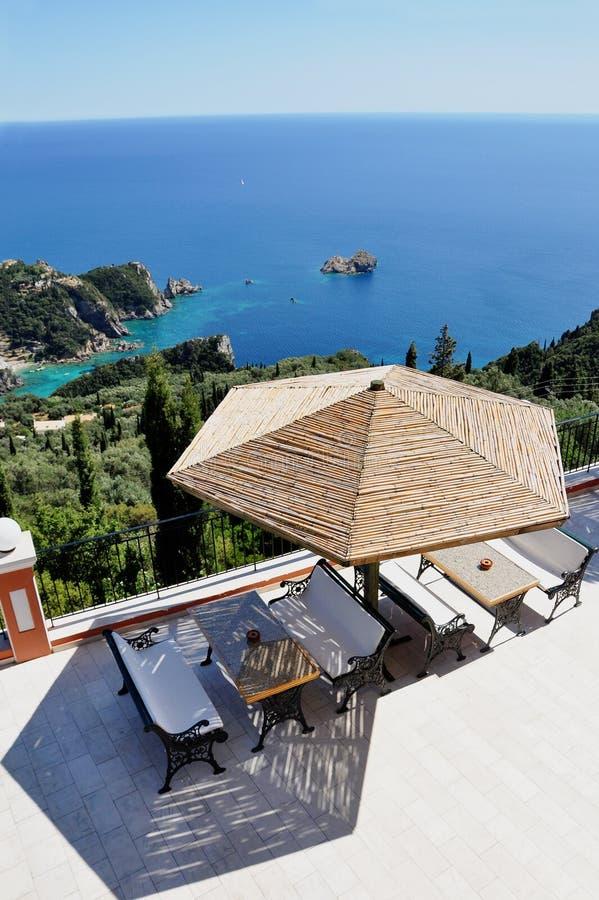 Paleokastritsa, Korfu stockbild
