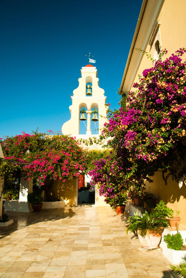Free Paleokastritsa Monastery, Corfu Island, Greece Royalty Free Stock Photo - 44738745
