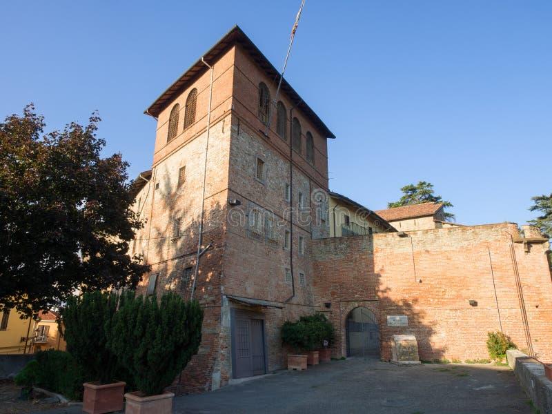 Paleologi Średniowieczny kasztel w Acqui Terme Włochy Teraz archeologiczny obrazy stock