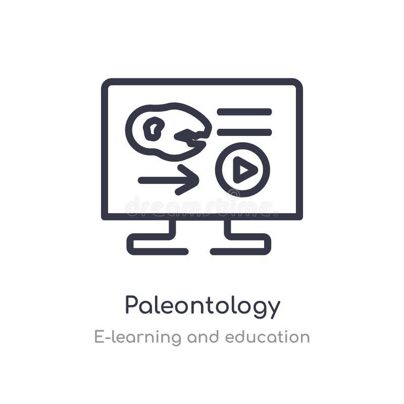 paleontologiöversiktssymbol isolerad linje vektorillustration fr?n e-l?ra och utbildningssamling redigerbar tunn slagl?ngd royaltyfri illustrationer